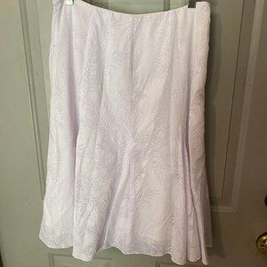Christopher & Banks White Tulip Skirt in Size 6